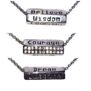 Lia Sophia Affirmation Necklace Silver